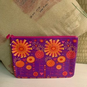 Handbags - Bright Fun Accessory Bag with Embroidered Flower